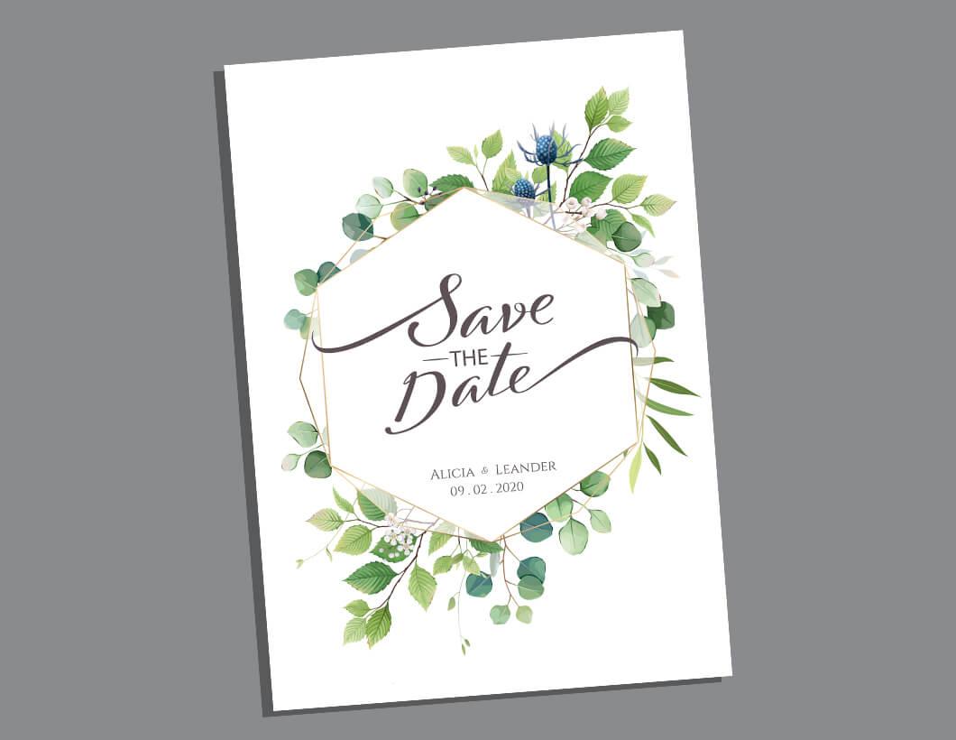 Save the Date 400gsm Matte Laminate - Stokey Print Shop